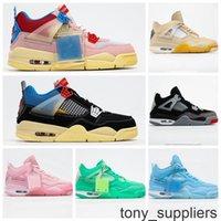 Kapalı Yelken 4 Bayan Erkek Basketbol Ayakkabıları 4s Yeni Jumpman Sneakers Boyutu 13 Union x 2020 SP WMNS IV Eğitmenler Açık Sneakers