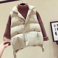 Women's Vests Down Vest Short Korean Version Fall   Winter 2021 Versatile Loose Bread And Cotton Jacket