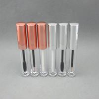 Tubes de brillance à lèvres de 6 ml, bouchon d'argent en or rose, tube de mascara, tuy-liner vide Conteneur cosmétique de tube Eyeliner F20213257