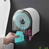 بحيرة الحمام الأنسجة مربع البلاستيك لفة ورقة حامل شفافة المرحاض موزع رف مع خامص تخزين ورق التواليت حامل