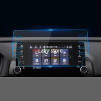 Película de acero de navegación de coche de 8 pulgadas GPS para Honda Accord 2018 8 Agujeros Central Control LCD Pantalla LCD Vidrio Templado HD Película protectora