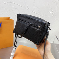 Crossbody سلسلة حقيبة جلد البقر جلدية مربع السيدات رفرف حالة إلكتروني الطباعة حقيبة يد سحاب محفظة مع مربع