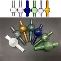 Colorful 20mm Glass Bubble Carb Cap With Glass Cap Suitfor Quartz Thermal Banger Nails Glass Water Bongs Dab Rigs