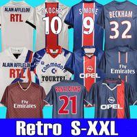2001 2002 Roaldinho PSGДжерси Ретро футбольные трикотажки Okocha Leroy 90 92 93 94 95 96 98 99 00 01 06 07 12 13 Бекхэм классический старинный футбол для футболки Ибрагимович