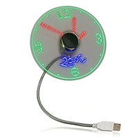 Дисплей температуры BL-S02-1 Mini USB Вентилятор Креативный подарок со светодиодным светом Cool Gadget для компьютера для ноутбука