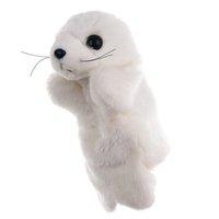 귀여운 만화 동물 인형 어린이 장갑 손 꼭두각시 바다 사자 플러시 손가락 장난감 어린이 2021 선물 L4