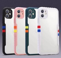 Back Transparent Acrylic Shockproof Cover Cases With Lens Protect Running Shoes Style for iPhone 8 X XS XR 11 12 Pro Max Protective Case