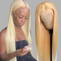 613 Blonde 13x4 Lace Frontal Wigs With Babyhair Pre Plucked Brazilian Virgin Silky Straight Human Hair Wig For Black Women