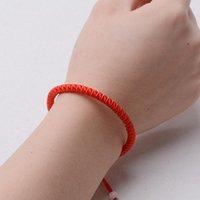 Cuentas, hebras 1pcs pareja pulsera roja cuerda afortunado pulseras o tobetlet hombres cuerda cuerda cuerda línea hecha a mano joyería amante regalo regalo