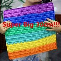 US-amerikanische Aktien Super große Größe 30cm Zappeln Spielzeug Push Bubble Autismus Benötigt Squishy Stress Rainbow Toys Erwachsene Kind Lustige Anti-Stress-Zappeleit-Party-Geschenke