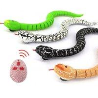 """RC 뱀 16 """"시뮬레이션 방울뱀 IR 적외선 원격 제어 현실적인 뱀 USB 충전식 장난 장난감 어린이 선물"""