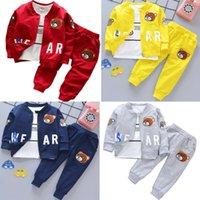 3PCS Baby Kid Toddler Infant Child Children Boy Girl Cartoon Bear Tops+T-shirt+Pants Outfits Clothes Set Suit Tracksuit