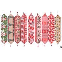 크리스마스 천으로 테이블 러너 180 * 35 cm 메리 크리스마스 부엌 테이블 장식 HWD11246