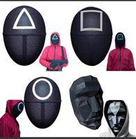 Calamari gioco mascherato maschera maschere uomo sud della Corea del sud della TV round squire triangolo full face maschera accessori delicati di halloween masquerade costume party puntelli fy7788
