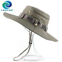 Chapéu impermeável da cubeta de Camoland para homens Mulheres Pesca Ao Ar Livre Tampão Verão Proteção UV Chapéu de Sol Masculino Panamá Cap Feminino Beach Hats C0305 Y0910