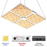 LED Grow Light Samsung Diodes MeanWell Dimmable Driver, 4000 Wafor 6x6 FT Spaces with Daisy Chain Control Box
