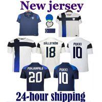 2021 Finlândia Futebol Jerseys 21/22 Home Jersey Pukki Skrabb Raitala Pohjanpalo Kamara Sallstrom Jensen Lod Futebol Shirts Uniforme