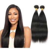 Human Hair Bulks Peruvian Bundles Straight Extensions 100% Unprocessed Remy Weave 3Pcs Natural Black IVogue