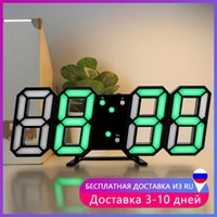 Wall Clocks Vintage 3D Large Clock Modern Design USB LED Digital Electronic On The Home Decor Kitchen Table Watch