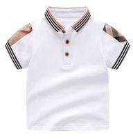 Розничные летние мальчики для мальчиков девочек футболки хлопчатобумажные дети с коротким рукавом футболка высокое качество детей с разворотом воротник влюбленные футболка детская одежда