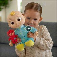 Kokomelon Plüsch Spielzeug Musikalische Schlafenszeit JJ Puppen für Mädchen Weiche Anime Plüschkörper Kleine Kissen Plüschtuch Teddybär Spielzeug für Babys