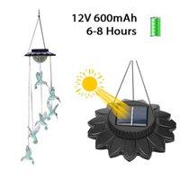 Светодиодные солнечные лампы Hummingbird Watter Chime Открытый Мобильный Подвесной Патио Свет для дома Вечеринка Ночное Украшение Сада