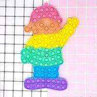 Super big size 30cm Fidget Toys Christmas Santa Claus Push Bubble Sensory Autism Special Needs Anxiety Stress Reliever GWE8807