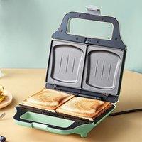 Ekmek Makineleri 640 W Elektrikli Waffle Maker Sandviç Ceviz Kek Pişirme Aletleri Kahvaltı Demir 220 V Ayı / DBC-P06D2