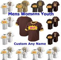 2020 2021 Мужчины Женщины Молодежные Дети Fernando Tatis JR Manny Machado Tony Gwynn Eric Hosmer Brown возвращается Бейсбол