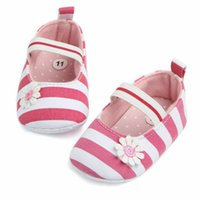 First Walkers Born Infant Baby Girls Crib Shoes Flower Soft Sole Anti-Slip Toddler Casual Cotton 0-18M Prewalker