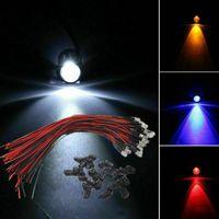 Leichte Perlen DC3-12V 3mm 5mm Rot / Grün / Blau / Weiß / Gelb / RGB Rosa UV-Runde vordrahtiertes Wasser klar LED mit Kunststoffhalter