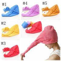 Microfiber Quick Dry Shower Hair Caps Spa Bathing Caps Magic Super Absorbent Dry Hair Towel Drying Turban Wrap Hat DHD5441