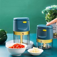 Mini Electric Meat Grinder Rechargeable Household Electric Garlic Grinder Kitchen Garlic Masher Push-type Cooking Appliances