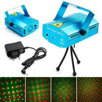 150MW Mini Red & Green Laser Lighting for Moving Party Blue  Black Body Stage Light Applied in DJ Partys Playing LED Lights Twinkle With Tripod Stages Indoor Lamps