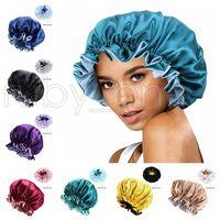 İpek Gece Kap Şapka Çift Yan Giyim Kadın Kafa Kapak Uyku Kap Satin Bonnet Güzel Saçlar Için Uyandırma Mükemmel Günlük Şapka Parti Şapkalar RRA4202