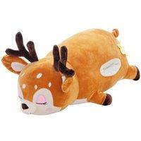 1pc Kawaii Deer Stuffedsoft Plush Doll Baby Lovely Sika Deer Animal Soft Pillow Toy Children Birthday Gifts Q0727