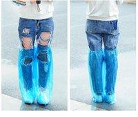 الأحذية في الهواء الطلق غطاء الأحذية البلاستيكية للماء حماية شفاف متوسط رمز عالية أعلى shoecase للرجال نساء المطر استخدام