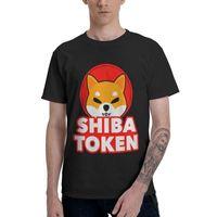 Men's T-Shirts Shiba Inu Dogecoin Shib Token T Shirt Men 100% Cotton Cool Novelty Tshirt Short Sleeve Dog Cartoon Cryptocurrency Tee