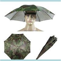 모자 모자 헤드웨어 스포츠 옥외용 낚시 우산 모자 위장 Foldable 야외 그늘 방수 캠핑 헤드웨어