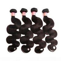 4pcs mycket indisk jungfru hår förlängning naturlig färg kroppsvåg vågigt mänskligt hår väv gratis frakt bella hår