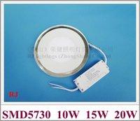 두 가지 색 유리 알루미늄 LED 패널 조명 램프 오목한 평면 천장 SMD5730 10W 15W 20W AC85V-265V 라운드 / 스퀘어 조명