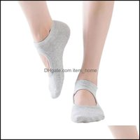Athletic Outdoor As & Outdoorskoi Terry Halter Yoga Socks Concise Comfortable Non-Pilling Anti-Slip Pvc Skin-Friendly Instep Opening Dance F