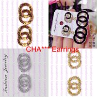 Null Profit Designer Buchstaben Ohrringe vergoldet Ohrstecker Mode Ohrringe für Frauen Perle Ohrringe Großhandel Preis