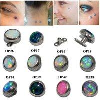 Saplama 1 ADET Titanyum Mikro Dermal Çapa Büyüleyici Opal Taş Cilt Dalgıç Yüzey Piercing İmplantları Seksi Jewelry16G