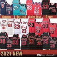 2021 كرة السلة الجديدة جيرسي شيكاغوالثور رجل 23 مايكل سكوتي 33 pippen شبكة الرجعية دينيس 91 رودمان الشباب أطفال بيج