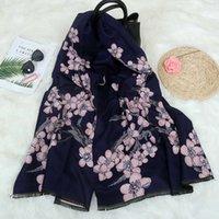 Herbst und Winter Neue Pflaumenblüte Kaschmir wie Schal Verdickter Thermal Klimaanlage Schal Frauen Lätzchen Koreanische Version
