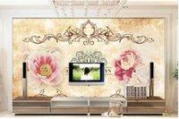 Wallpapers Custom Po Mural 3d Wallpaper European Style Retro Flowers Home Decor Living Room For Walls 3 D In Rolls