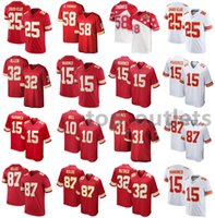 2021 American Football Jerseys Patrick 15 Mahomes Clyde 25 Edwards-Helaire Derrick 58 Thomas Marcus 32 Allen Jersey Stitched Size S-XXXL