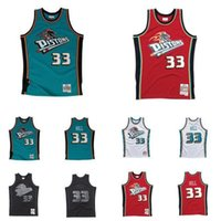 DetroitPistonsHerren 33 Grant Hill Mitchell Ness 1998-99-00 Hardwoods Classics Authentic Basketball Jersey