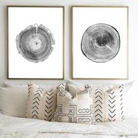 Paintings Wood Tree Ring Canvas Art Painting Wall Pictures Black And White Rustic Prints Woodwork Posters Nordic Home Decor